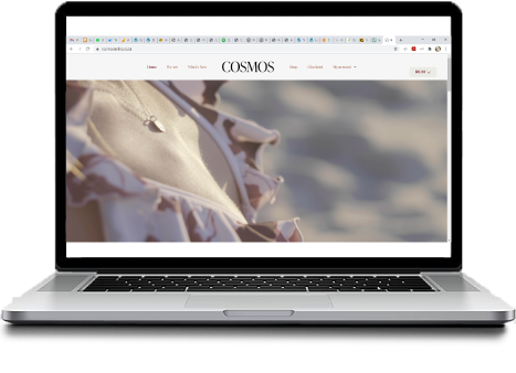 Sutherland Sites Website Creation | Cosmos and Co Clothing Store e commerce website