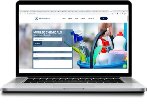 Sutherland Sites Website Creation | Monleo Chemicals Cleaning company