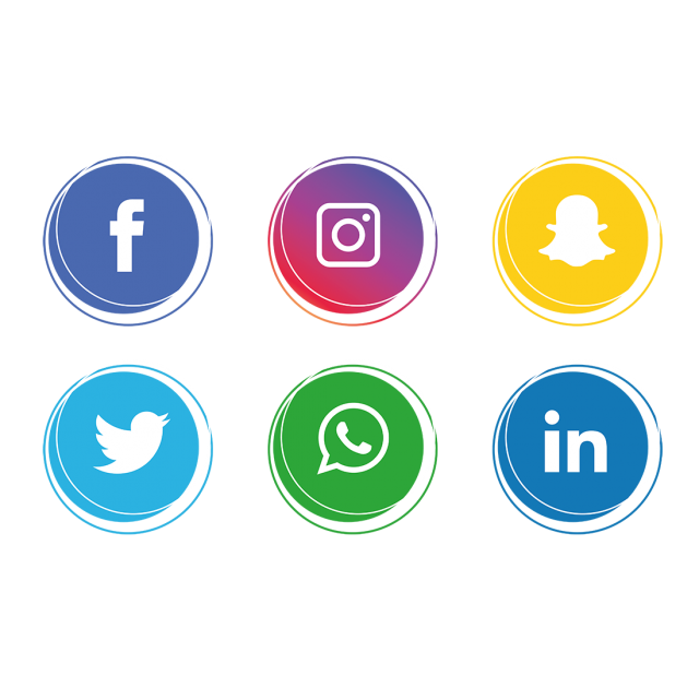social media icons for features